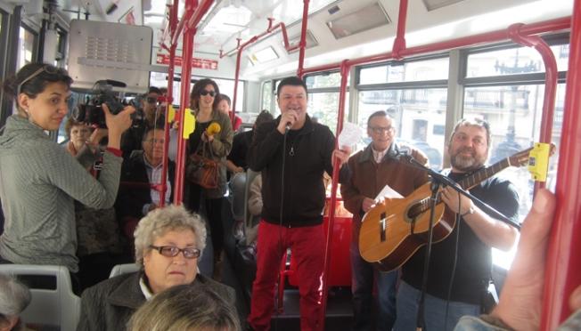 Barriografía na liña 7 do autobús urbano