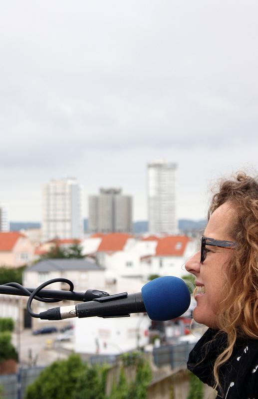 Lydia Botana, en plena interpretación